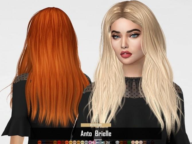 Sims 4 RUCHELLSIMS Anto Brielle Hair RETEXTURE at REDHEADSIMS