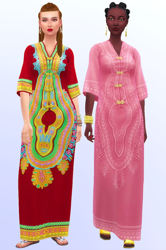 Sagittarian Dream long boho dress at Joliebean image 10714 Sims 4 Updates
