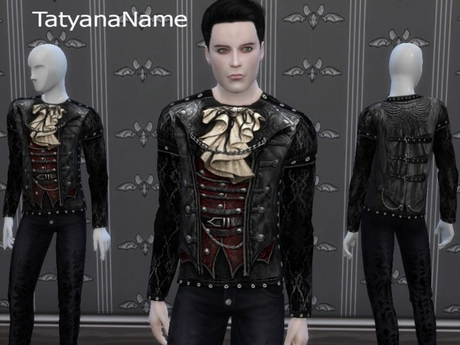 Leather Gothic Top at Tatyana Name image 1089 670x503 Sims 4 Updates