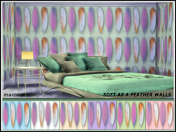 Soft as a Feather Walls by marcorse at TSR image 1100 Sims 4 Updates