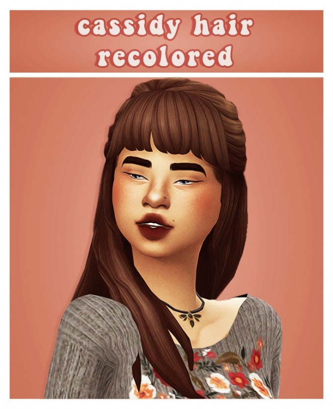 Sims 4 Dogsill cassidy hair recolour at cowplant pizza