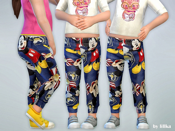 Sims 4 Mickey Print Leggings by lillka at TSR