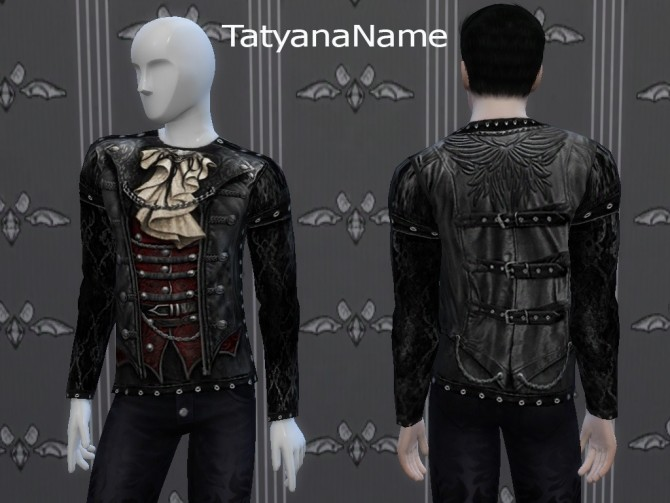 Leather Gothic Top at Tatyana Name image 11113 670x503 Sims 4 Updates