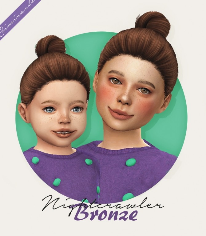 Sims 4 Nightcrawler Bronze hair for Kids & Toddlers at Simiracle