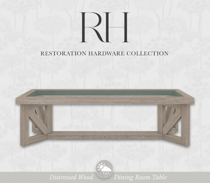 Distressed Dining Table at SimPlistic image 112 p1 670x585 Sims 4 Updates