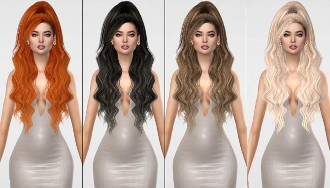 Sims 4 RUCHELLSIMS LeahLillith Patience hair retexture at REDHEADSIMS