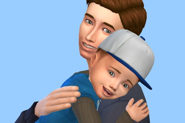 Sims 4 Father and Son at MODELSIMS4