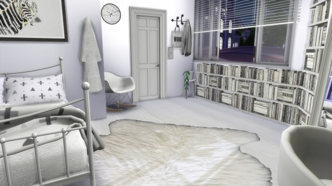 Sims 4 White Bedroom at MODELSIMS4