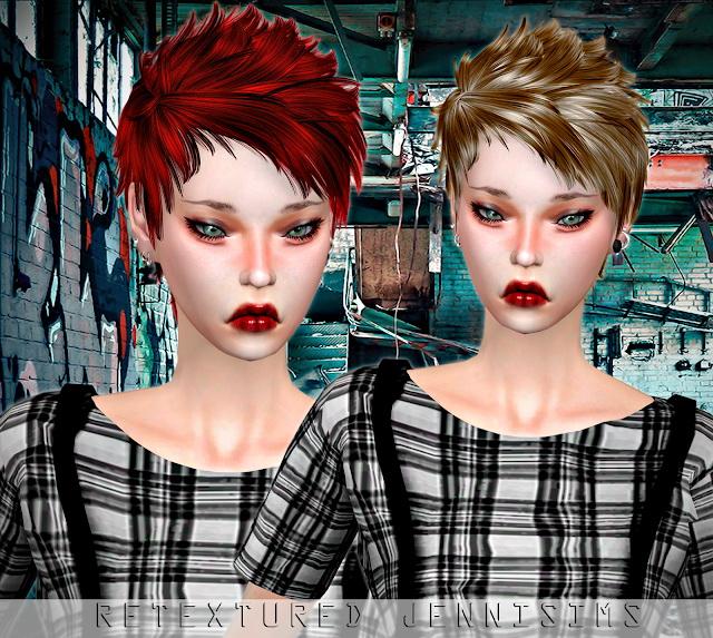 Sims 4 Newsea Good Kid Hair retexture at Jenni Sims