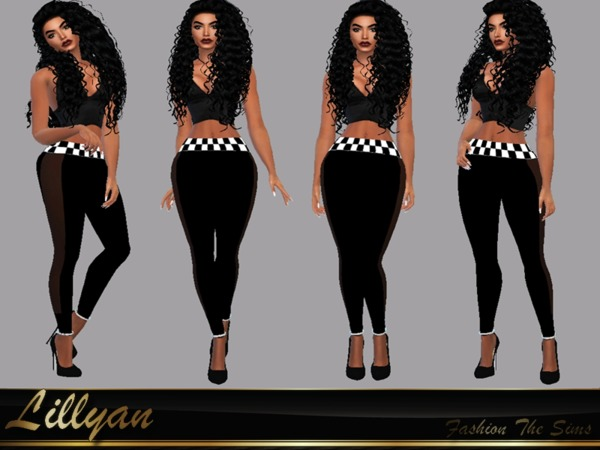 Leggings Leandra by LYLLYAN at TSR image 1200 Sims 4 Updates