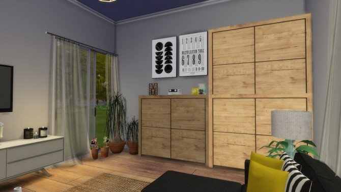 Sims 4 LIVINGROOM IKEA STYLE at Dinha Gamer