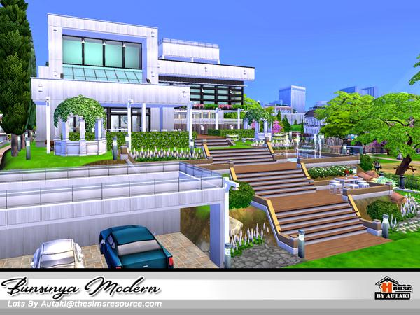 Sims 4 Bunsinya Modern house by autaki at TSR