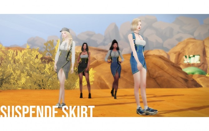 Suspender Skirt 2 Style at NEWEN image 12117 670x421 Sims 4 Updates