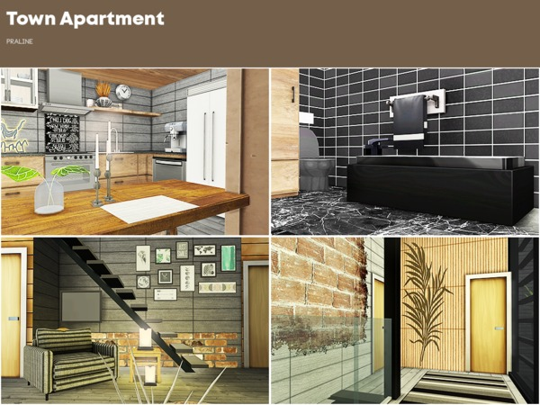 Town Apartment by Pralinesims at TSR image 1217 Sims 4 Updates