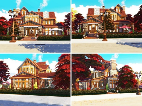 Sims 4 Autumn Pearl house by MychQQQ at TSR