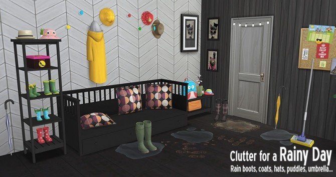 Sims 4 Rainy Day clutter by Sandy at Around the Sims 4