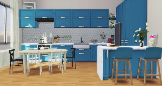 Sims 4 Los Feliz Kitchen at Pyszny Design