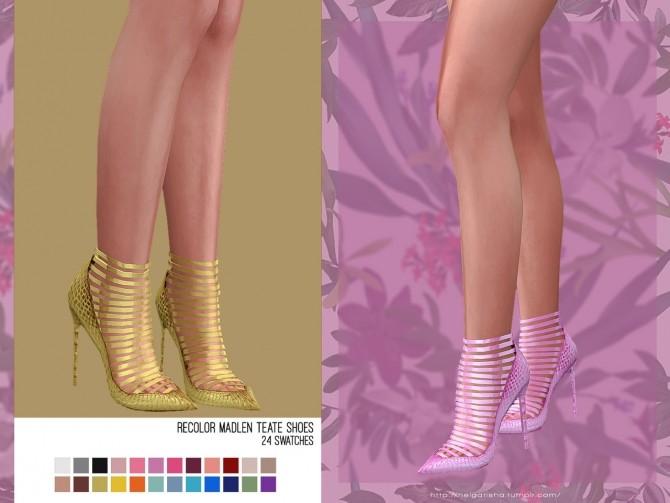 Sims 4 Recolor Madlen Teate Shoes at Helga Tisha
