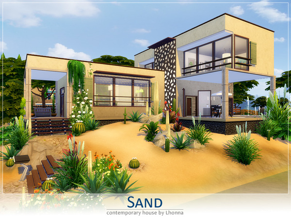 Sims 4 Sand house by Lhonna at TSR