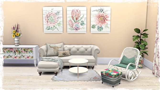 Floral Canvas/Pictures by TaTschu at Blooming Rosy image 13113 670x378 Sims 4 Updates