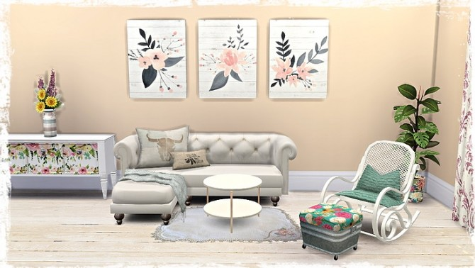 Floral Canvas/Pictures by TaTschu at Blooming Rosy image 13211 670x378 Sims 4 Updates