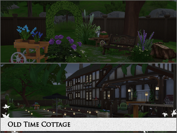 Old Time Cottage by Gwynnbleidd at TSR image 1326 Sims 4 Updates