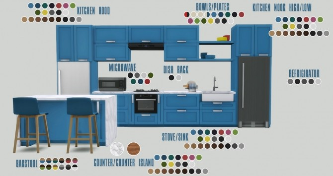 Los Feliz Kitchen at Pyszny Design image 1331 670x355 Sims 4 Updates