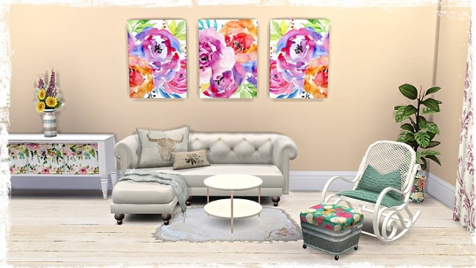 Floral Canvas/Pictures by TaTschu at Blooming Rosy image 13310 670x378 Sims 4 Updates