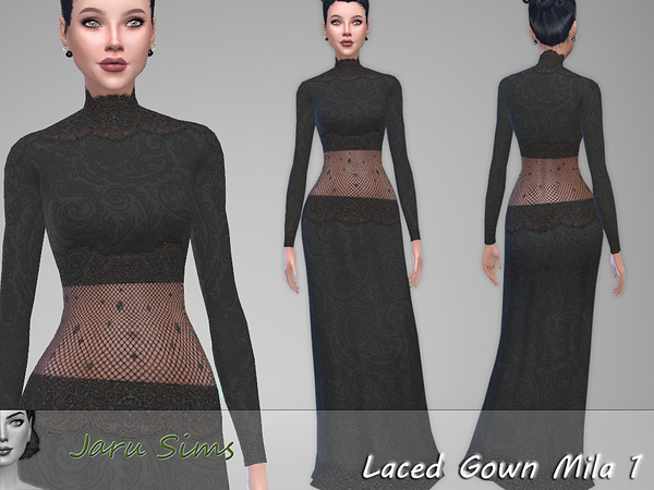 Laced Gown Mila 1 by Jaru Sims at TSR image 1338 Sims 4 Updates