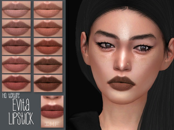 Sims 4 IMF Evita Lipstick N.132 by IzzieMcFire at TSR