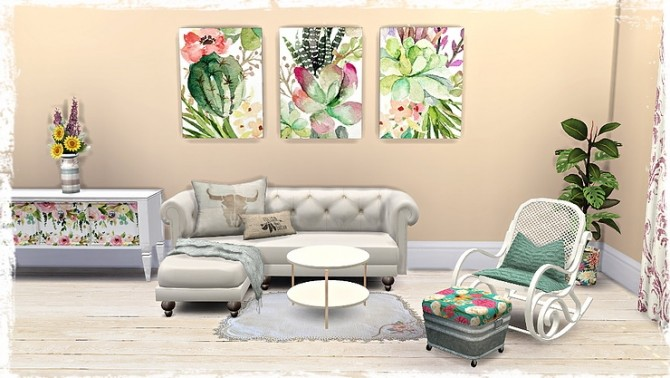 Floral Canvas/Pictures by TaTschu at Blooming Rosy image 1349 670x378 Sims 4 Updates