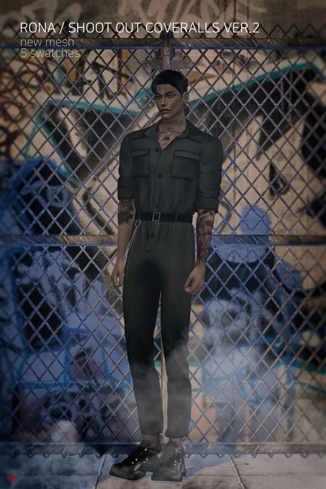 Shoot out coveralls at Rona Sims image 1357 667x1000 Sims 4 Updates