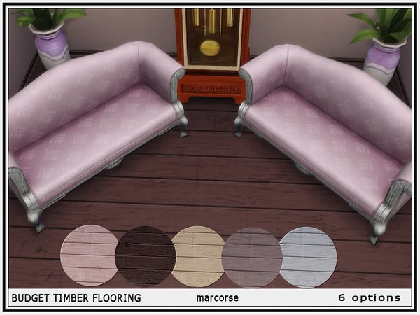 Budget Timber Flooring by marcorse at TSR image 136 Sims 4 Updates