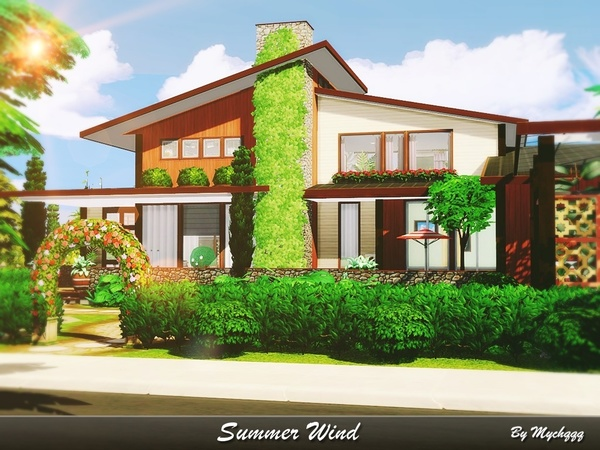 Sims 4 Summer Wind house by MychQQQ at TSR