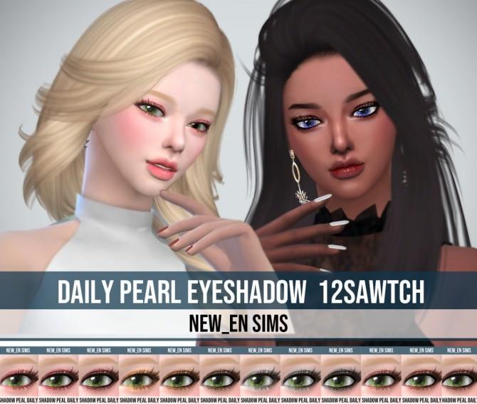 Sims 4 Daily Pearl Eyeshadow at NEWEN