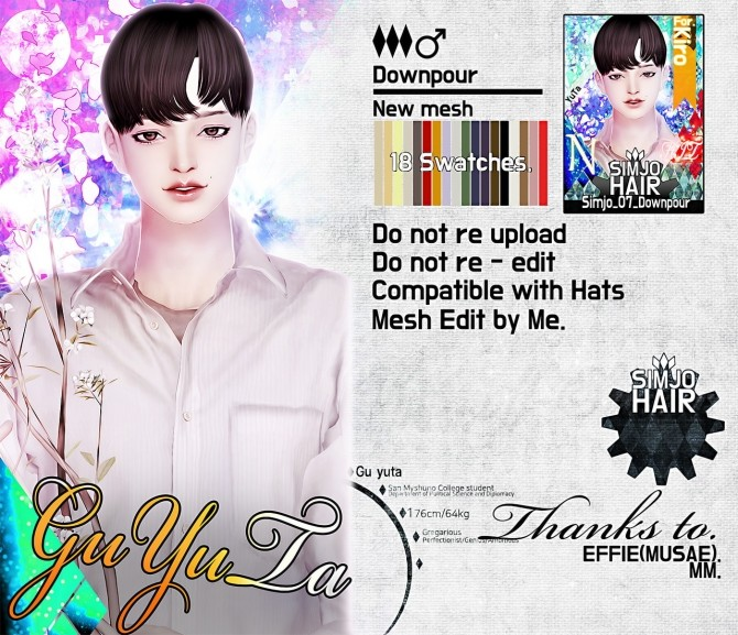 Hair 07 Downpour at Kim Simjo image 1374 670x577 Sims 4 Updates