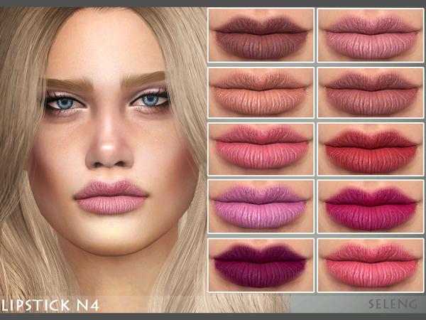 Sims 4 Lipstick N4 by Seleng at TSR