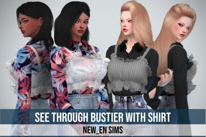 Bustier With Shirt at NEWEN image 13810 670x446 Sims 4 Updates