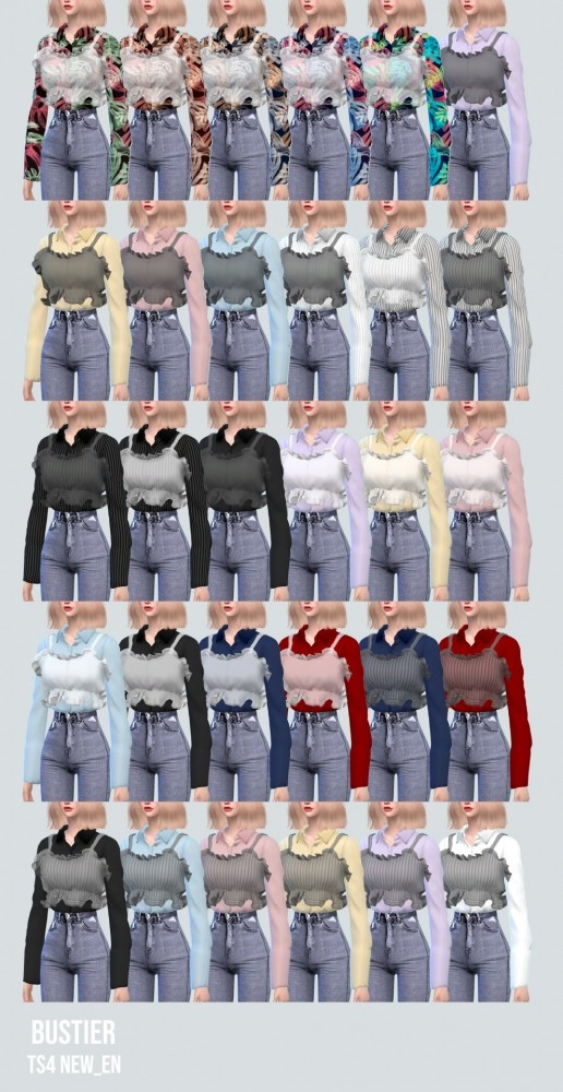 Bustier With Shirt at NEWEN image 13910 516x1000 Sims 4 Updates