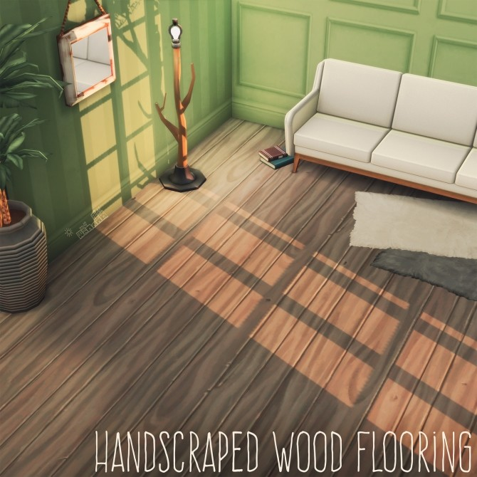 HANDSCRAPED WOOD FLOORING at Picture Amoebae image 14111 670x670 Sims 4 Updates
