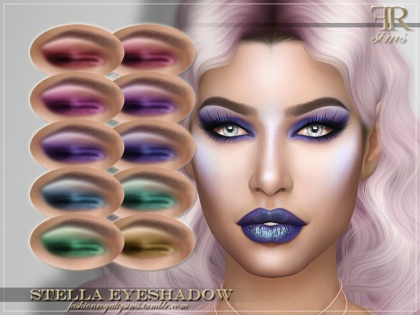 Sims 4 FRS Stella Eyeshadow by FashionRoyaltySims at TSR