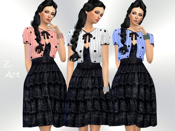 Sims 4 Winter CollectZ 14 romantic dress by Zuckerschnute20 at TSR