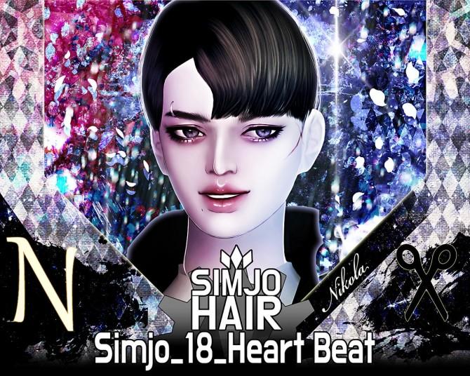 Hair 18 Heart Beat at Kim Simjo image 1443 670x536 Sims 4 Updates