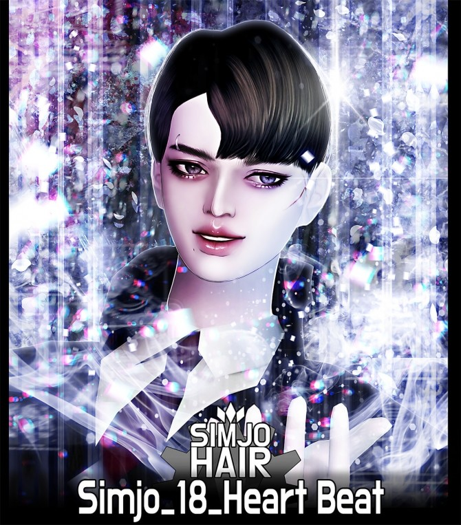 Hair 18 Heart Beat at Kim Simjo image 1452 670x763 Sims 4 Updates