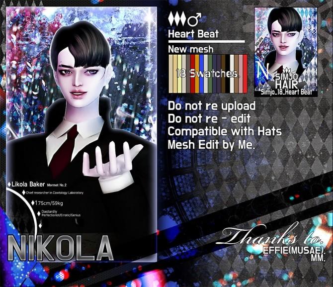 Hair 18 Heart Beat at Kim Simjo image 1463 670x577 Sims 4 Updates