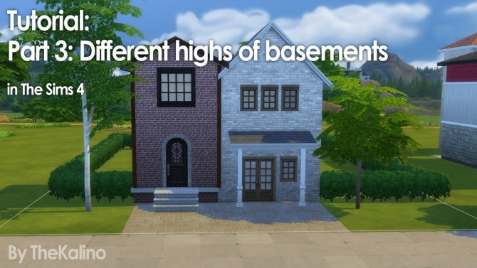 Part 3: Small Tutorial for different highs of basements (connected) at Kalino image 1467 670x377 Sims 4 Updates