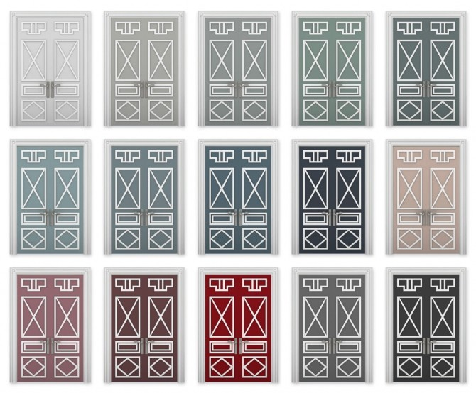 Sims 4 Art Doorco Set at SimPlistic