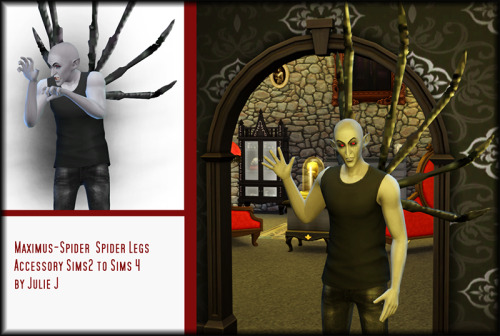 Sims 4 Maximus Spider Accessory 2to4 at Julietoon – Julie J