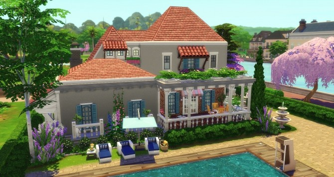 Sims 4 Charme house by Angerouge at Studio Sims Creation