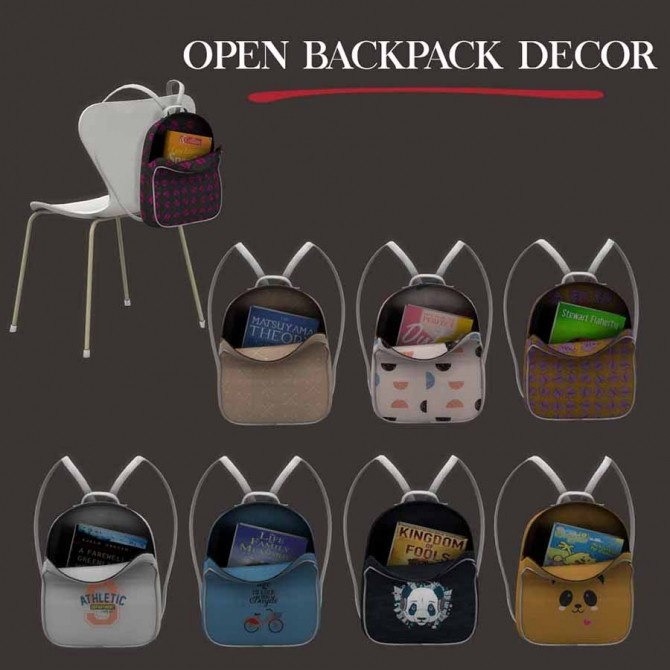 Sims 4 Open Backpack at Leo Sims